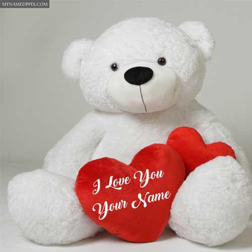 Write Name Love Beautiful Teddy Bear Profile Image Create Pictures