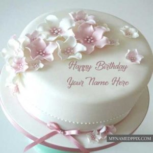 Write Sister Name Happy Birthday Rose Cake Image Send