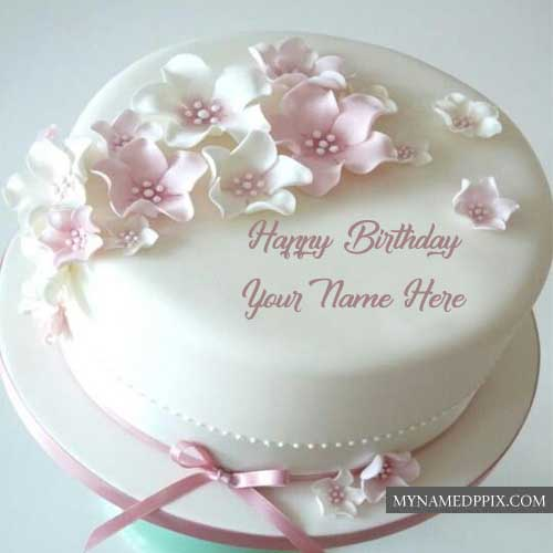 Write Sister Name Happy Birthday Rose Cake Image Send