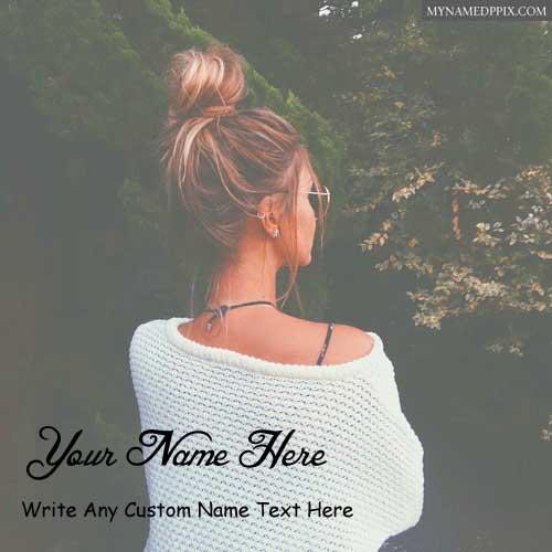 Beautiful Profile Image Girl Name Write Photo Online Create
