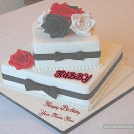 Birthday Wishes Layer Cake Name Wishes Images Create Online