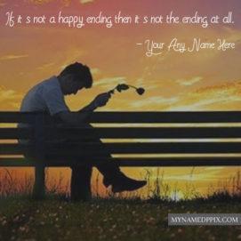 Breakup Sad Alone Boy Quotes Status Name Write Image Download
