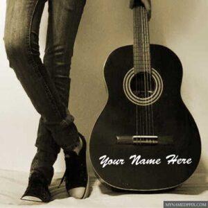 Cool Rocking Music Boy Write Name Profile Image