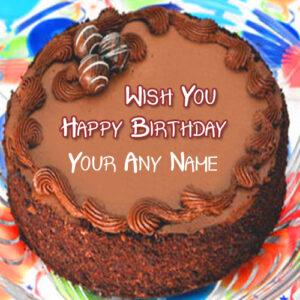 Create Chocolate Birthday Cake Write Name Photo Profile Status