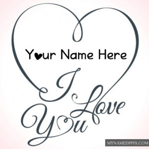 Write Name Love U Greeting Card Pictures Online Create Photos