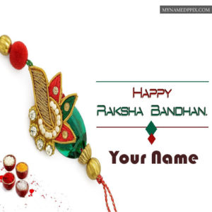 Beautiful Rakhi Send Brother Name Write Greeting Card Photos
