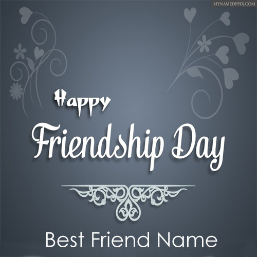Special Name Write Happy Friendship Day Wishes Greeting Card Send