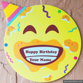 Happy Birthday Funny Cake With Name Write Image Editing Online