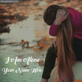Write Name Alone Girl Profile Status Pictures Online Create DP