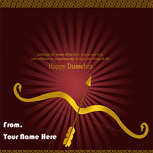 Happy Dussehra 2018 Name Wishes Greeting Card Status Download