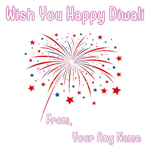 Write Name Amazing Cracker Diwali 2018 Greeting Card Pics