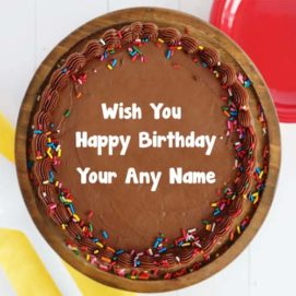 Write Name Birthday Design Chocolate Cake Wishes Pictures Create