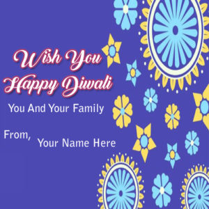 Write Name Happy Diwali Wishes Family Greeting Card Send Images