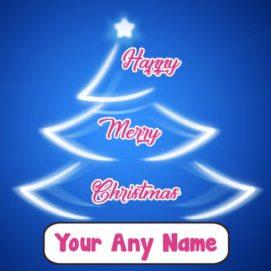 2018 Happy Merry Christmas Write Name Photo Greeting Card