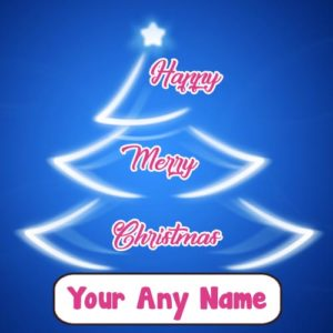 2018 Happy Merry Christmas Write Name Photo Greeting Card