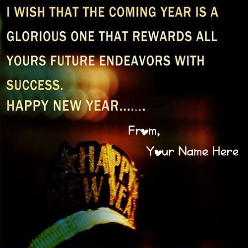 2019 New Year Wishes Quotes Greeting Card Name Pictures