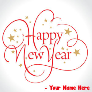Best Love Greeting Card Happy New Year Wishes Name Writing