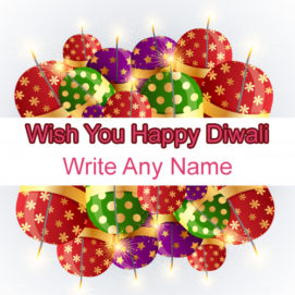 Diwali Crackers Greeting Card Name Write Images Download
