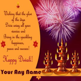 Diwali Greeting Card Name Write Pictures Online Create Free