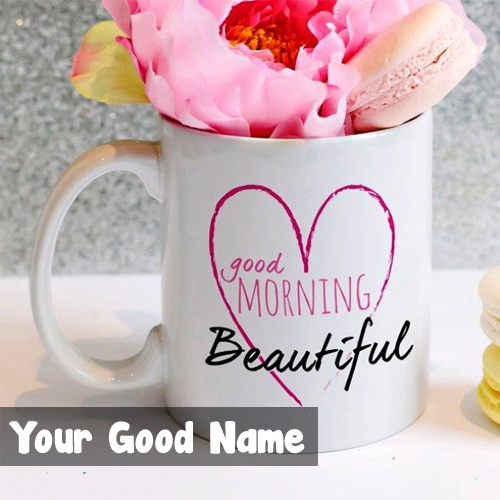 Good Morning Beautiful Rose Special Name Wishes Image Download
