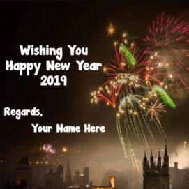Wishing U Happy New Year 2019 Name Write Image Editor