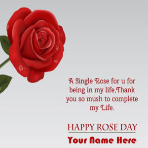 Happy Rose Day Greeting 2019 Wishes Name Pictures