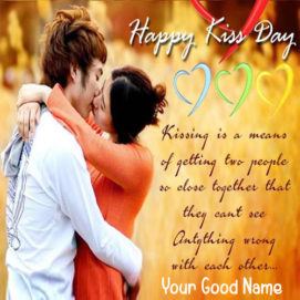 Romantic Happy Kiss Day Name Create Quotes Image 2019