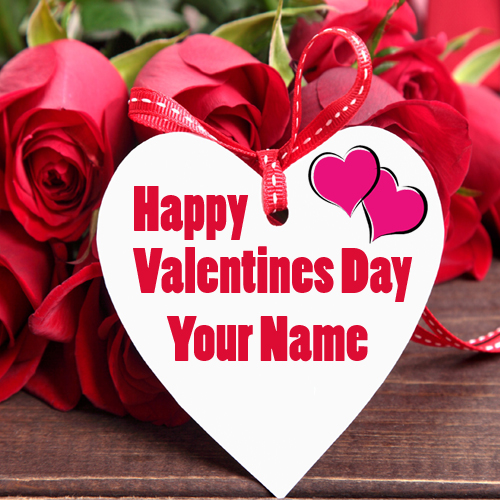 Romantic Photo Valentine's Day Wishes Name Create Card