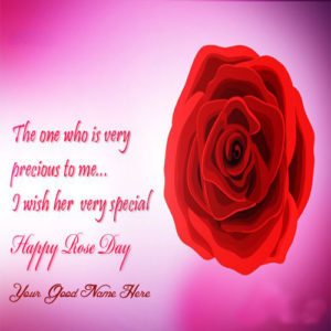 Unique Rose Day Name Writing Greeting Card Image Edit