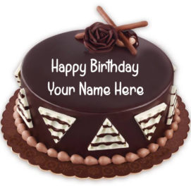 Create Name Birthday Cake Chocolate Cake Status Pics