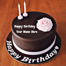 Rose Chocolate Happy Birthday Cake Name Create Wishes