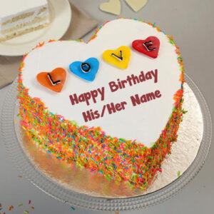 Write Boyfriend Name Love Birthday Cake Image Create