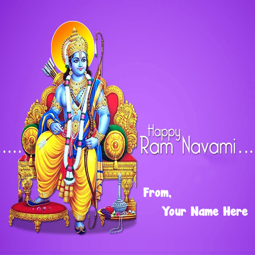 Online Create Name Wishes Ram Navami Pictures Editor