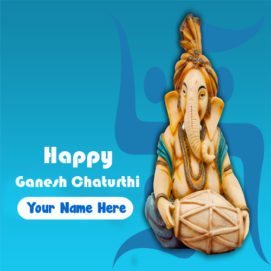 2019 Happy Ganesh Chaturthi Card On Name