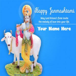 Write Name On Happy Janmashtami Wishes