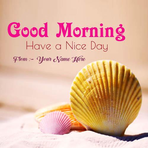 Beautiful Card Morning Wishes Name Image