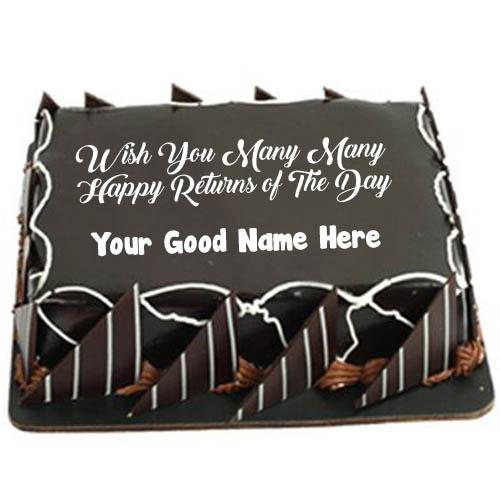 Chocolate Birthday Cake With Name Wishes