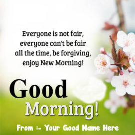 Good Morning Quotes With Name Cards Send