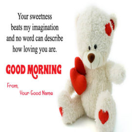 Teddy Morning Quotes Image With Name Pic