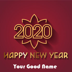 Name Greeting Card Happy New Year 2020 Wishes