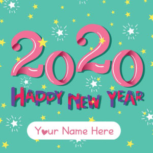New Year's Greetings With Name Photo Create Card Online