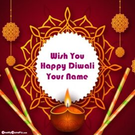 Happy Diwali Wishes Images With Your Name Creative