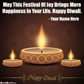 Diwali English Quotes Wishes Images With Name Create
