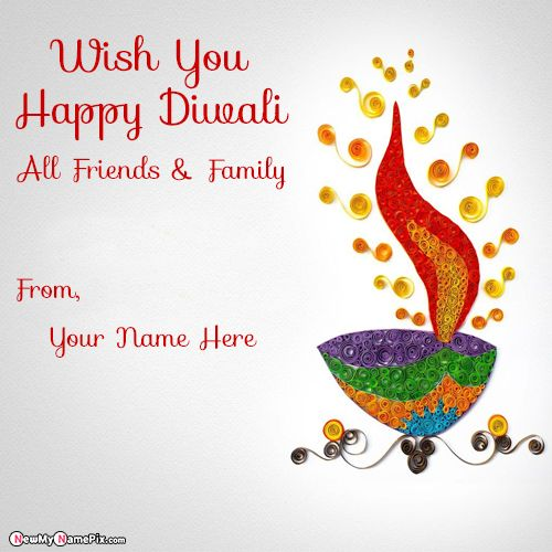 Deepavali Wishes Unique Pictures My Name Write Create Online