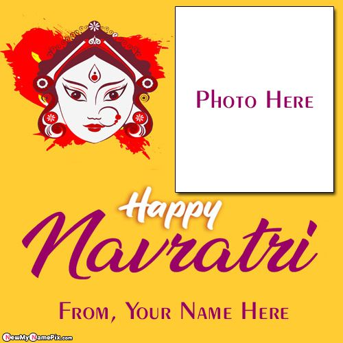 Navratri Name And Photo Greeting Card Create Online Free Download