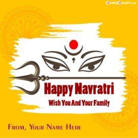 Name Write Happy Navratri Photo Creative Free Download
