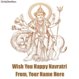 Festival Happy Navratri Wishes Latest Wallpapers Create Name