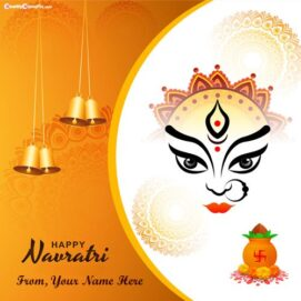 Maa Ambe Happy Navratri Wishes Images Edit By Custom Name