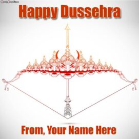 Hindu Festival Happy Dussehra Pictures Write Name Wishes