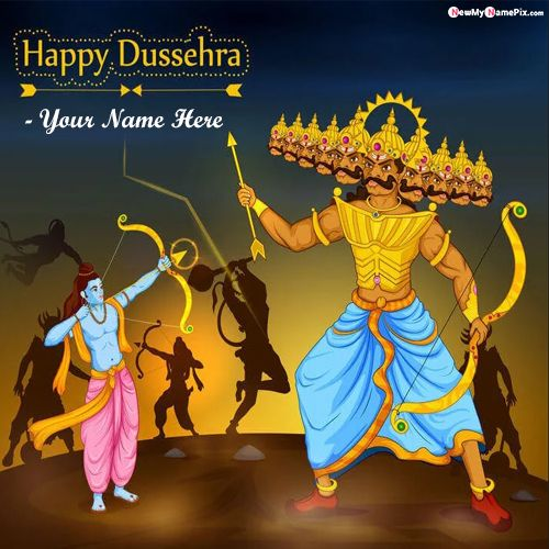 Happy Dussehra 2021 Photo With Your Name Card Create Online